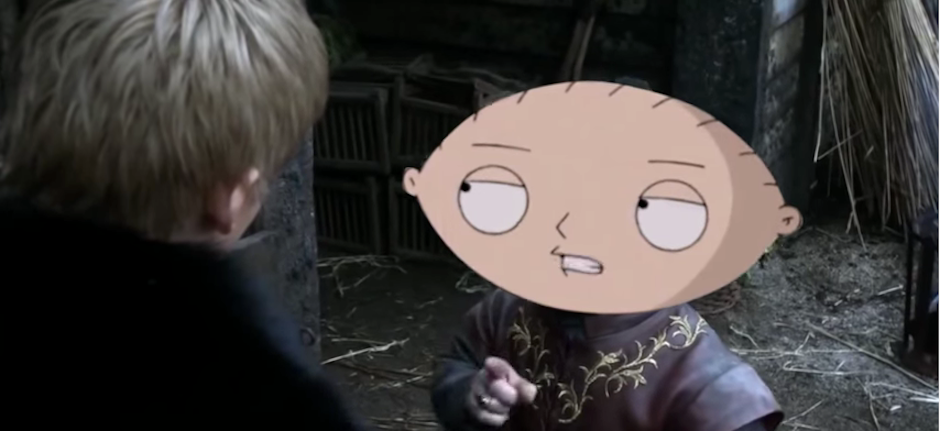 Stewie Griffin as Tyrion Lannister works all too perfectly