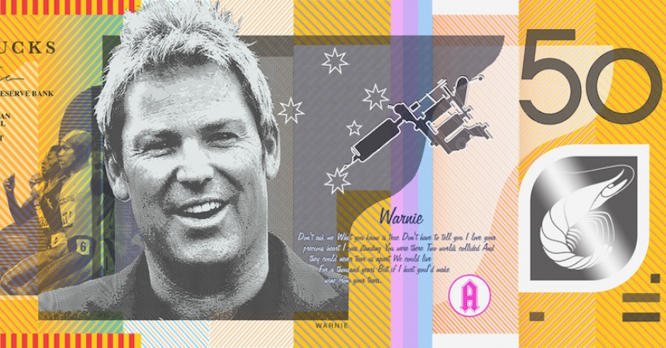 Straya Cash - an Aussie bank note re-design by Aaron Tyler