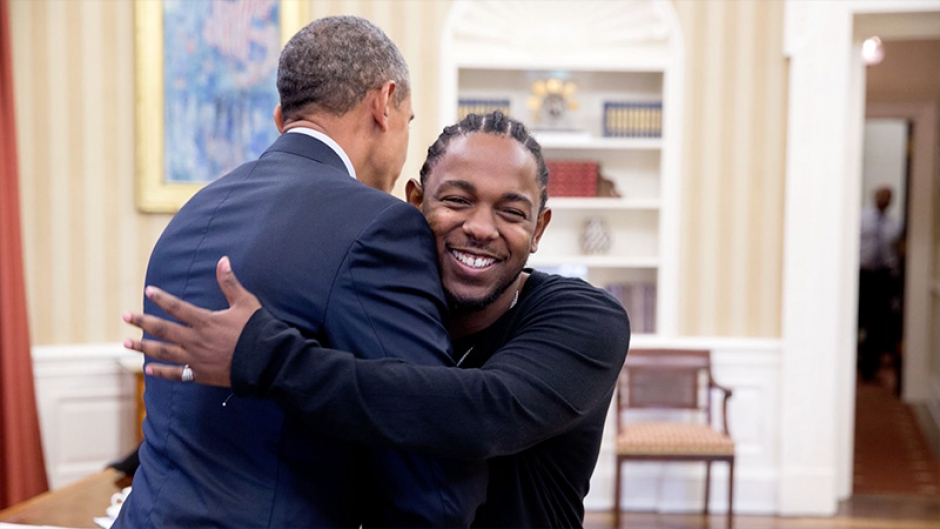 Kendrick Lamar's Oval Office Meeting with Barack Obama