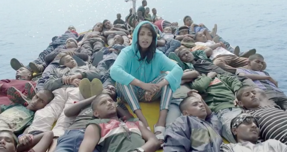 """Boat people / What's up with that?"" Watch M.I.A. break down 'Borders' in her epic new clip"