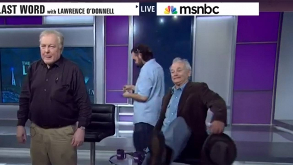 Bill Murray Falls Off His Chair