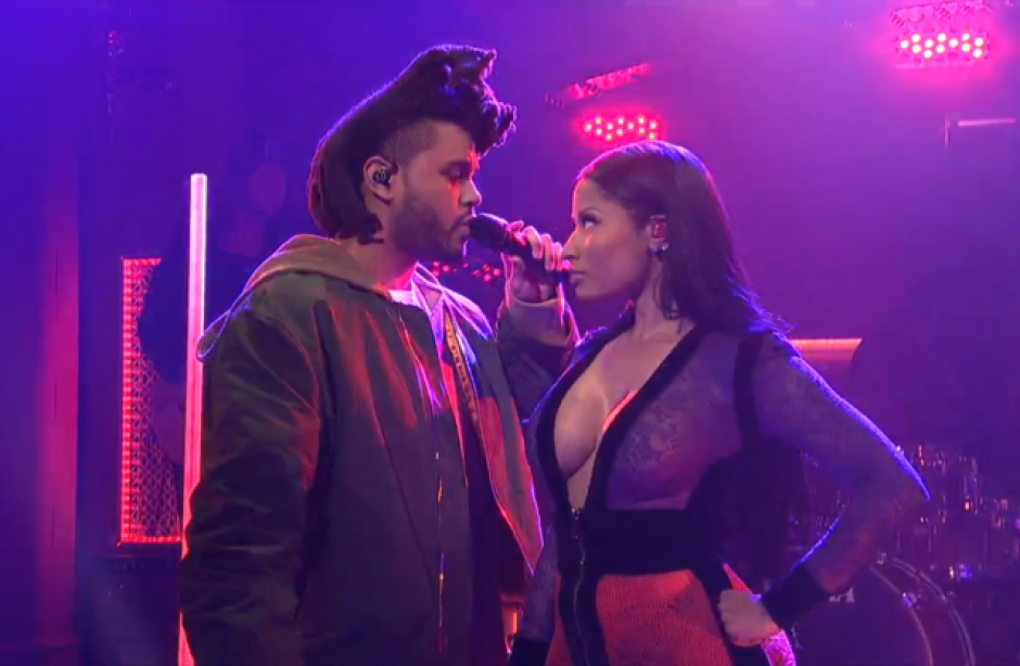Watch Nicki Minaj perform live with The Weeknd
