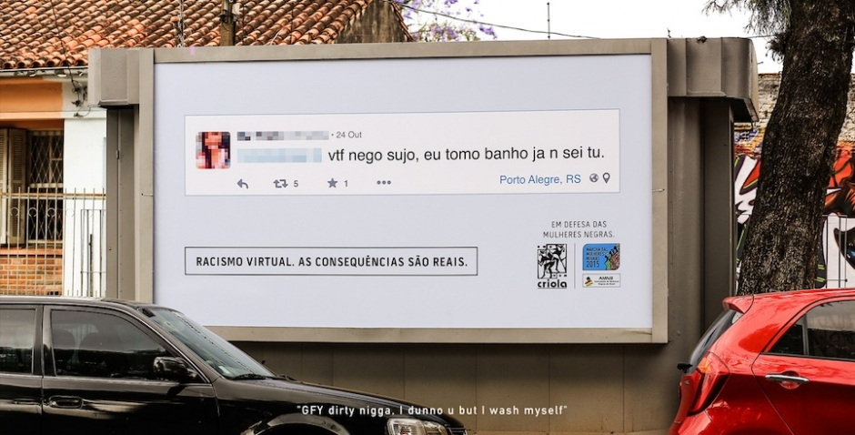 Racist Online Comments Are Being Posted On Billboards in Brazil