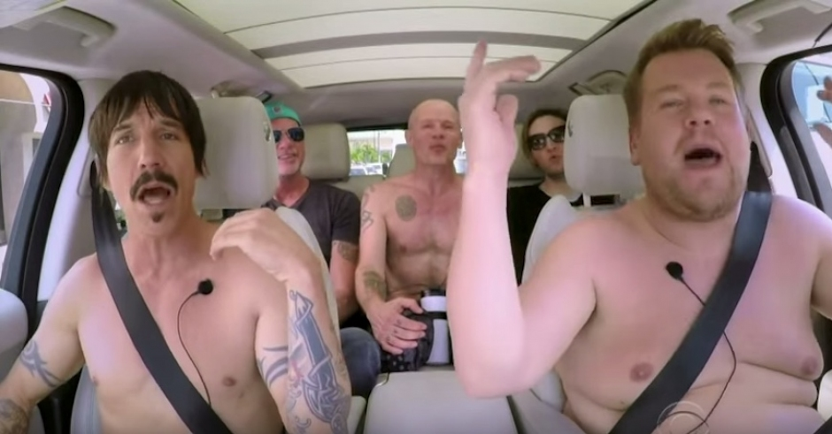 Red Hot Chili Peppers do Carpool Karaoke the only way they know how