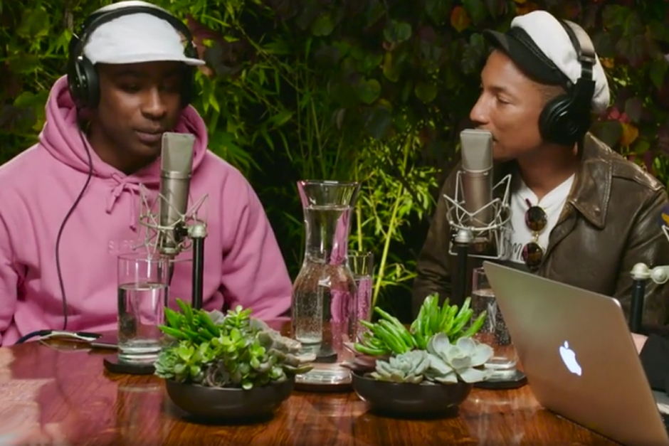 Skepta guests on Pharrell's radio show