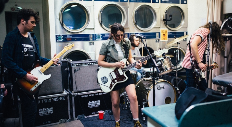 Tired Lion launched their new album in a Newtown laundromat last night