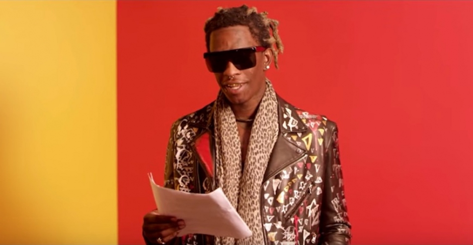 Young Thug reads the lyrics to Best Friend so you can (kinda) understand them