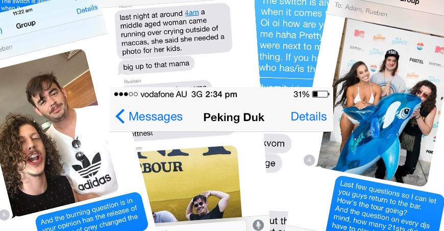 Text Message Interview: Peking Duk