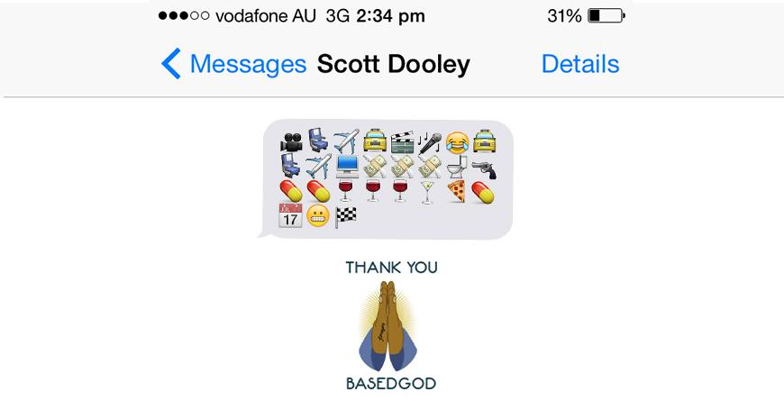 Scott Dooley Text Message Interview