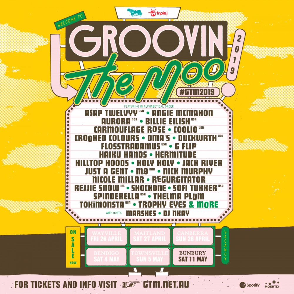 Groovin' The Moo announce a bumper-to-bumper 2019 line-up
