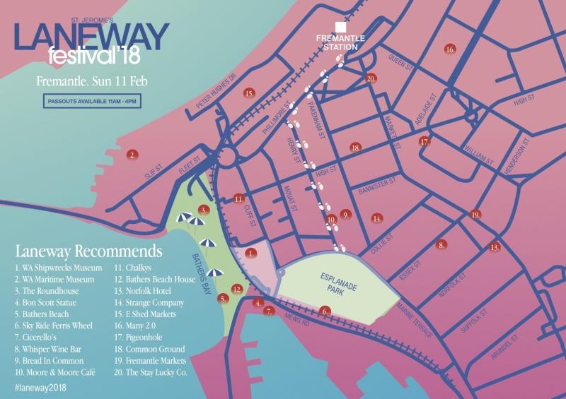 Laneway Festival announces Fremantle passouts drops national set