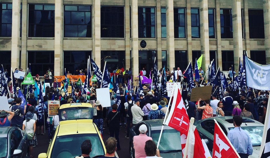 Yesterday Perth had to protest our right just to protest