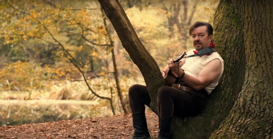 David Brent sings a folk song about losing his V's to a flower-selling traveller on Lady Gypsy