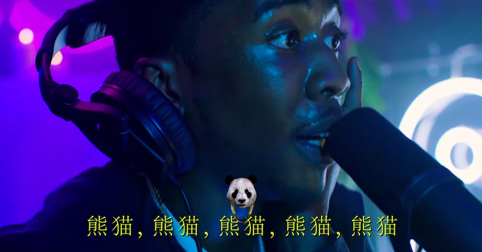 Watch an oddly enchanting live rendition of Desiigner's Panda, subtitled in Chinese