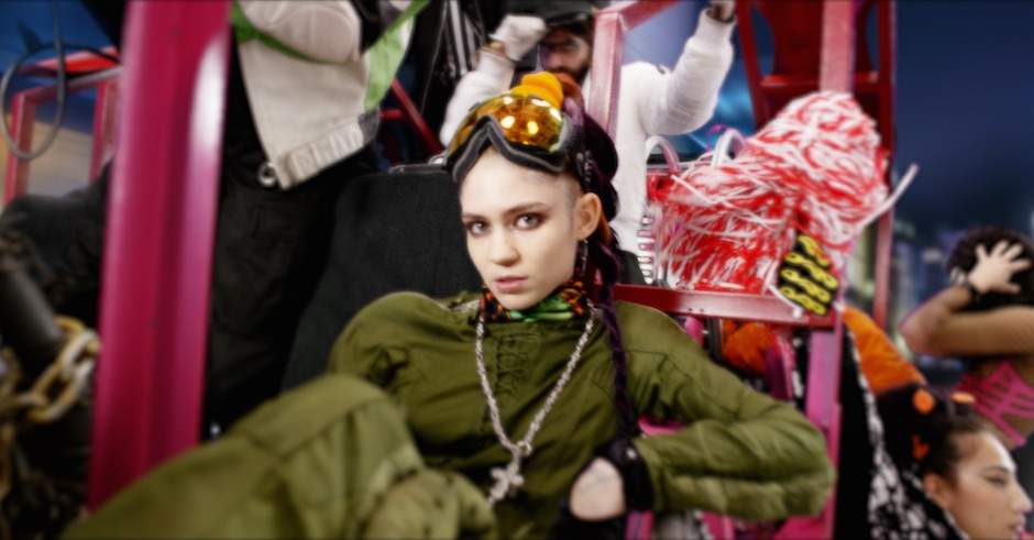 Bask in the glory of another visually bombastic new Grimes video clip