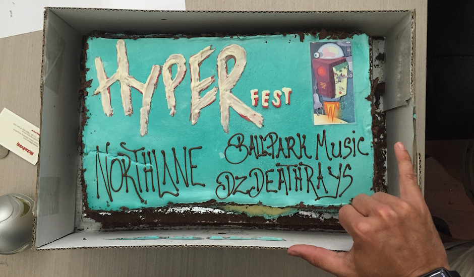 Hyperfest announced their 2016 lineup with a cake and that makes us happy