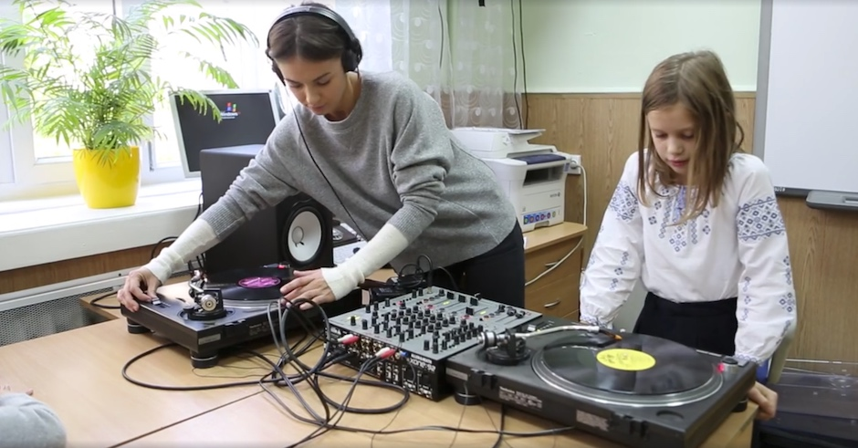 Watch Ukraine's Nastia DJ at her daughter's Bring Your Parents To Class Day