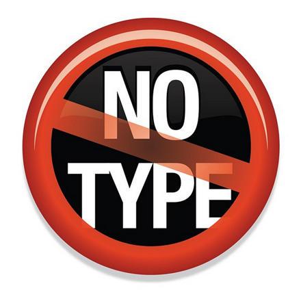 no type emoji