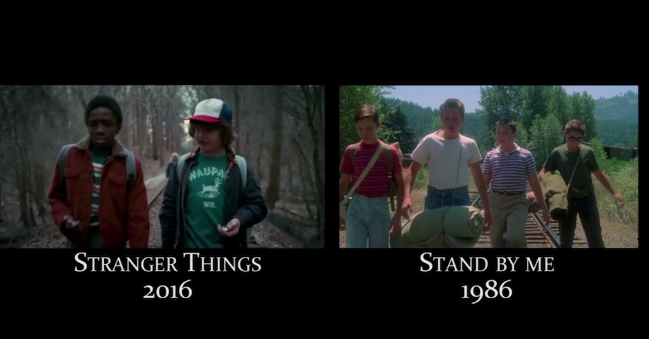 Here's a video comparing Stranger Things to its many 70s/80s horror/sci-fi references