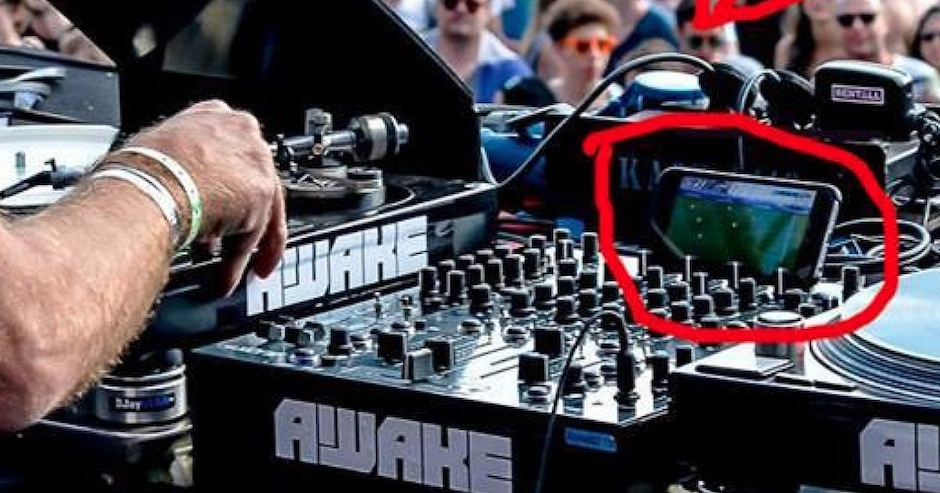 Sven Väth was caught watching Euro 2016 during a festival DJ set because priorities