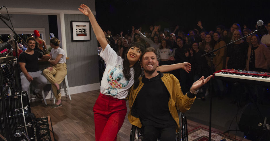 Linda Marigliano and Dylan Alcott are hosting a new live music TV show on ABC