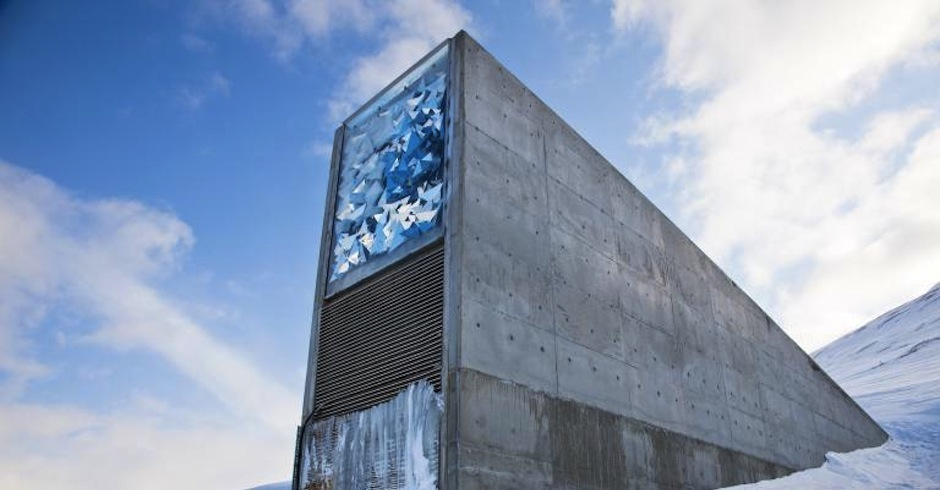 There's an underground seed vault on an island in Norway in case of an apocalypse