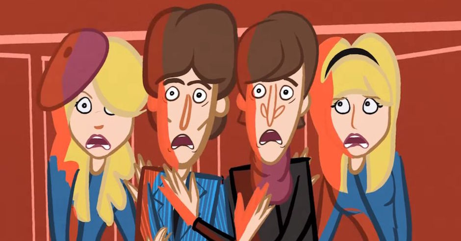 Watch a reenactment of a John Lennon acid trip in animated form