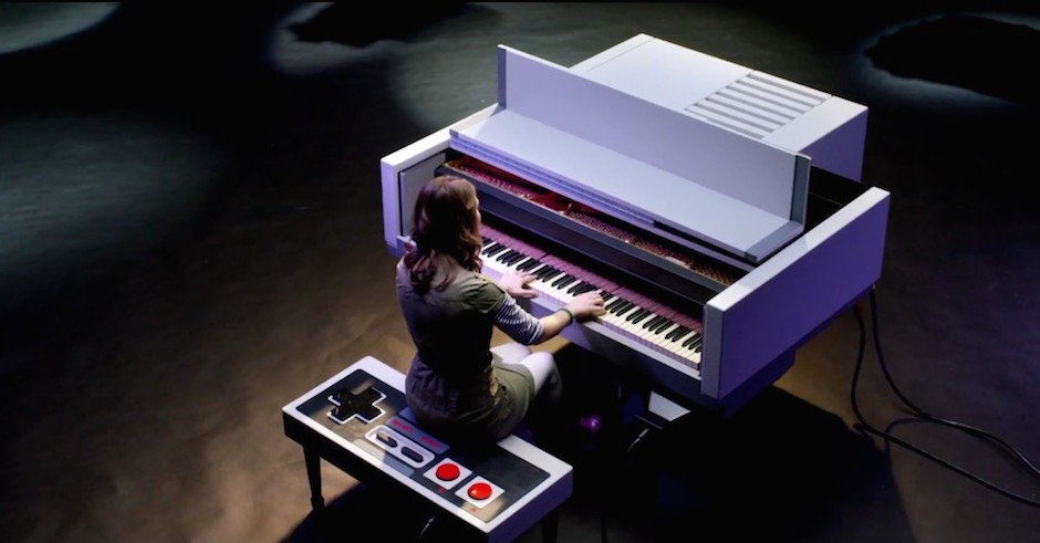 Today's Must Watch: Super Mario Bros Melody On A Nintendo-themed Piano