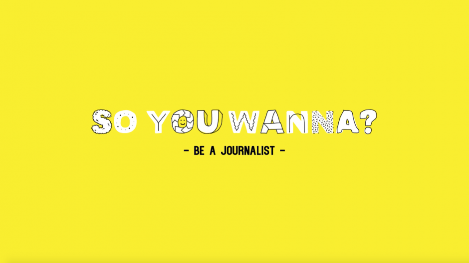 So You Wanna...Be A Journalist With Tom Tilley